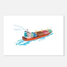 Container Ship Cargo Boat Retro Postcards (Package