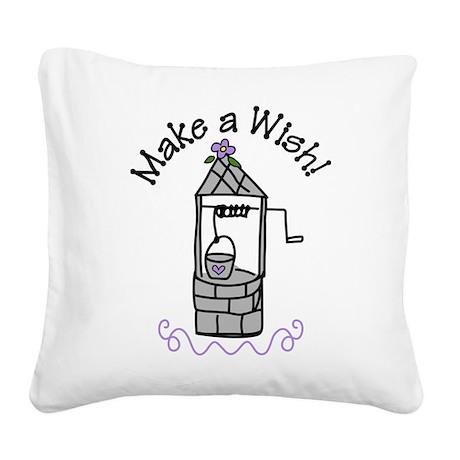 Make a Wish Square Canvas Pillow