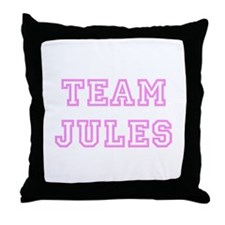 Pink team Jules Throw Pillow