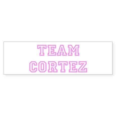 Pink team Cortez Bumper Sticker