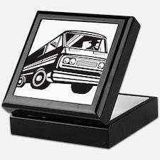 Closed Delivery Van Retro Keepsake Box