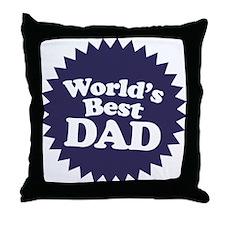 Worlds Best Dad Throw Pillow