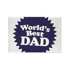 Worlds Best Dad Rectangle Magnet