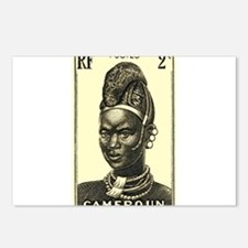 1939 Cameroon Mandarawa Woman Postage Stamp Postca