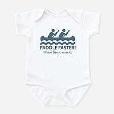 Paddle Faster I Hear Banjo Music. Infant Bodysuit