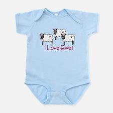 I Love Ewe Infant Bodysuit