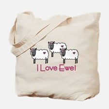 I Love Ewe Tote Bag