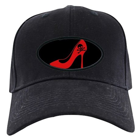 Evil High Heel Shoe Black Cap