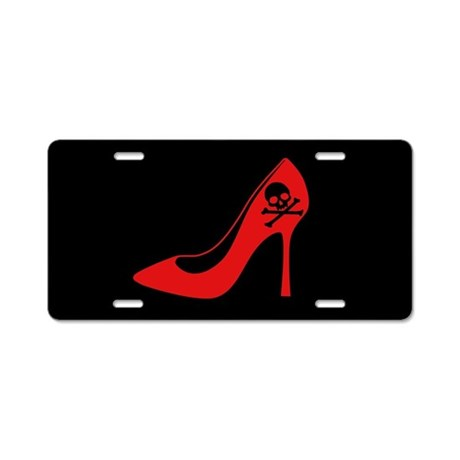 Evil High Heel Shoe Aluminum License Plate