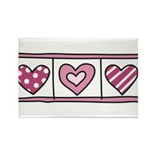 Three Hearts Rectangle Magnet