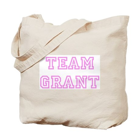 Pink team Grant Tote Bag