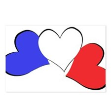 French Hearts Postcards (Package of 8)