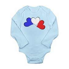 French Hearts Long Sleeve Infant Bodysuit