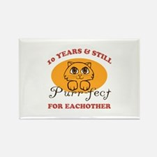 10th Purr-fect Anniversary Rectangle Magnet