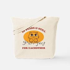 10th Purr-fect Anniversary Tote Bag