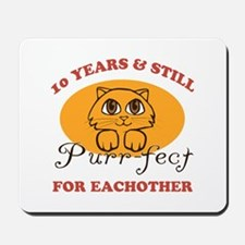 10th Purr-fect Anniversary Mousepad