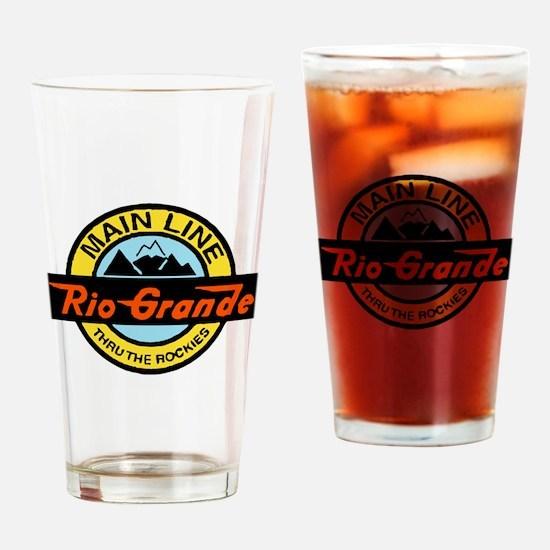 Rio Grande Rockies Railway Drinking Glass