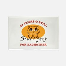 20th Purr-fect Anniversary Rectangle Magnet