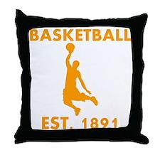 Basketball Est 1891 Throw Pillow