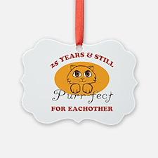 25th Purr-fect Anniversary Ornament