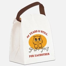 25th Purr-fect Anniversary Canvas Lunch Bag