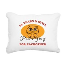 25th Purr-fect Anniversary Rectangular Canvas Pill