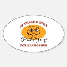 25th Purr-fect Anniversary Decal