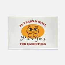 25th Purr-fect Anniversary Rectangle Magnet