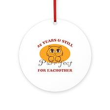 25th Purr-fect Anniversary Ornament (Round)