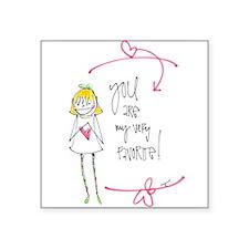 "Valentines - My Favorite Square Sticker 3"" x 3"""
