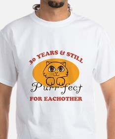 30th Purr-fect Anniversary Shirt