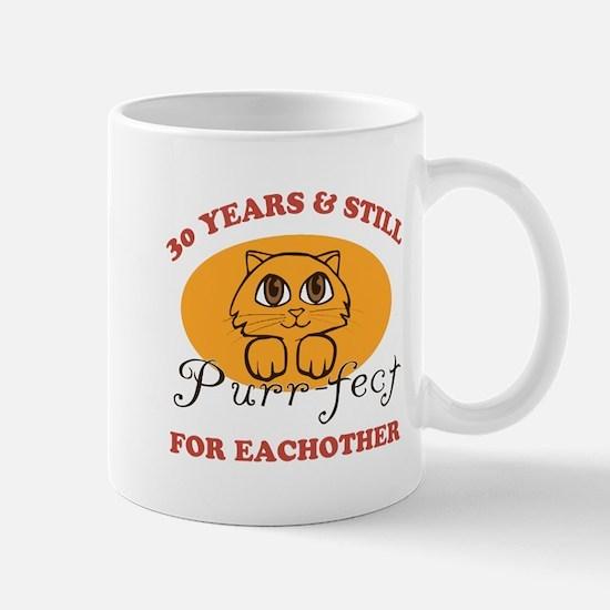 30th Purr-fect Anniversary Mug