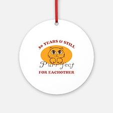 30th Purr-fect Anniversary Ornament (Round)