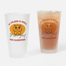 30th Purr-fect Anniversary Drinking Glass