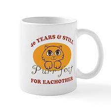 40th Purr-fect Anniversary Mug