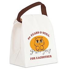 50th Purr-fect Anniversary Canvas Lunch Bag