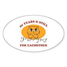 50th Purr-fect Anniversary Bumper Stickers