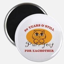 "50th Purr-fect Anniversary 2.25"" Magnet (10 pack)"