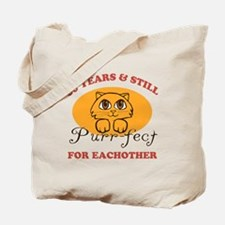60th Purr-fect Anniversary Tote Bag