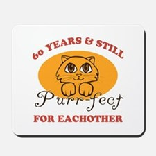 60th Purr-fect Anniversary Mousepad