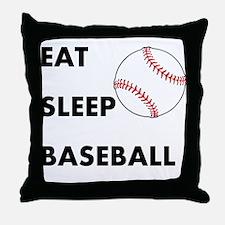 Eat Sleep Baseball Throw Pillow