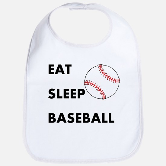 Eat Sleep Baseball Bib