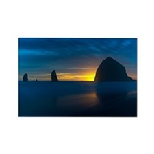 Cannon Beach Sunset Rectangle Magnet