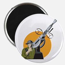 World War Two British Soldier Machine Gun Magnet
