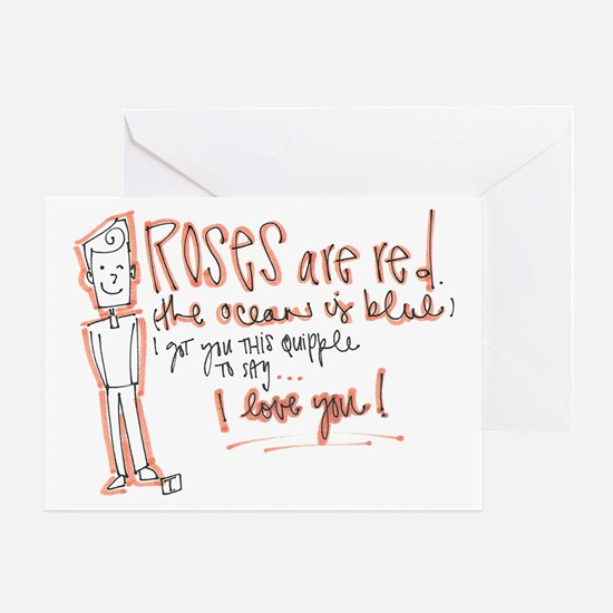 Valentines Day - Quipple Poem Greeting Card