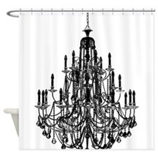 Vintage Chandelier Shower Curtain