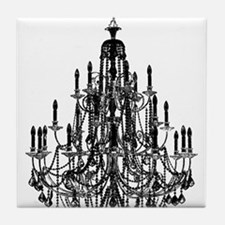 Vintage Chandelier Tile Coaster