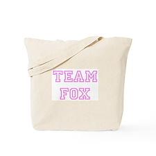 Pink team Fox Tote Bag