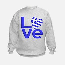 Blue Greek LOVE Sweatshirt