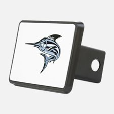 Blue Marlin Fish Jumping Retro Hitch Cover